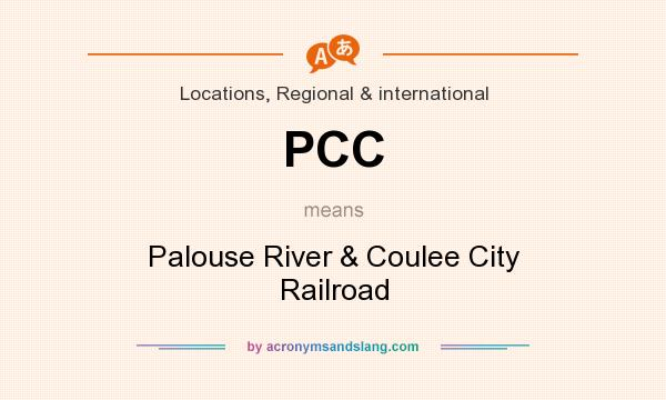 What does PCC mean? It stands for Palouse River & Coulee City Railroad