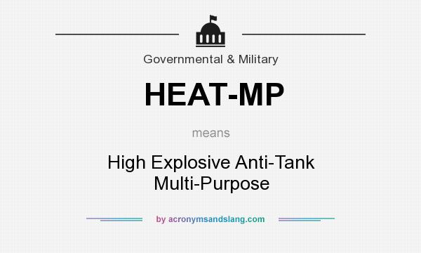 What does HEAT-MP mean? It stands for High Explosive Anti-Tank Multi-Purpose