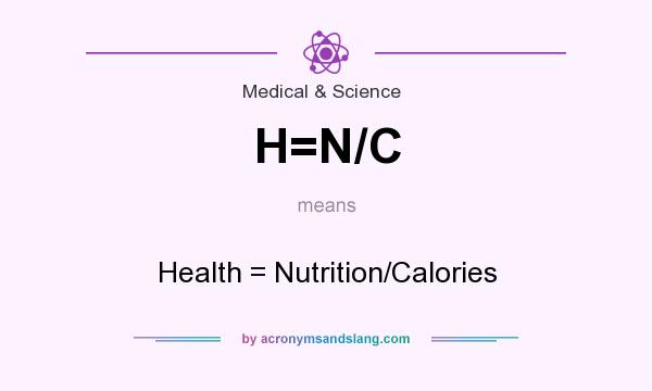 What does H=N/C mean? It stands for Health = Nutrition/Calories