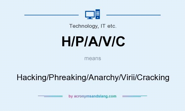 What does H/P/A/V/C mean? It stands for Hacking/Phreaking/Anarchy/Virii/Cracking