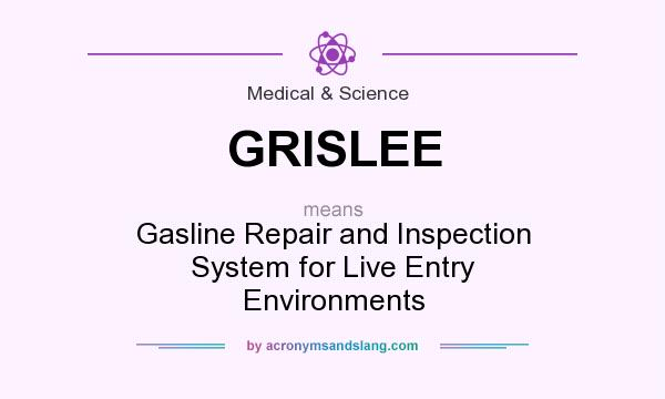 What does GRISLEE mean? It stands for Gasline Repair and Inspection System for Live Entry Environments