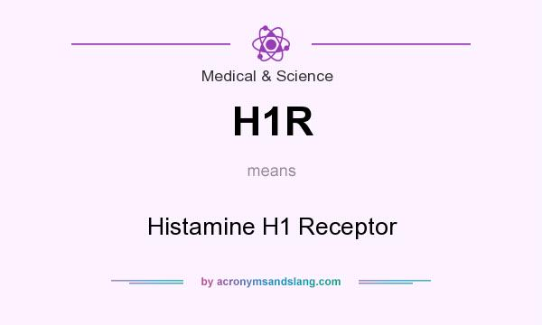 What does H1R mean? It stands for Histamine H1 Receptor