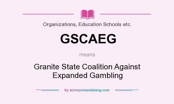 Coalition against gambling expansion casino controls