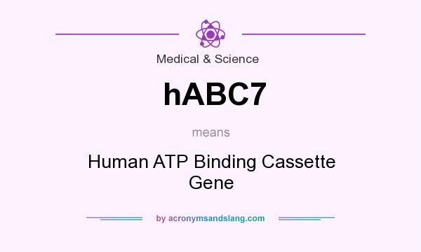 What does hABC7 mean? It stands for Human ATP Binding Cassette Gene