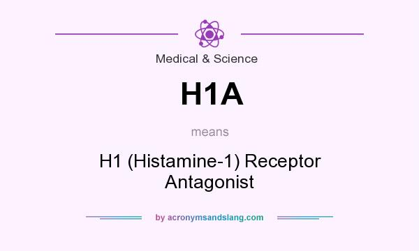 What does H1A mean? It stands for H1 (Histamine-1) Receptor Antagonist