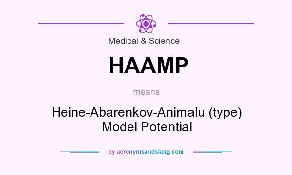 What does HAAMP mean? It stands for Heine-Abarenkov-Animalu (type) Model Potential
