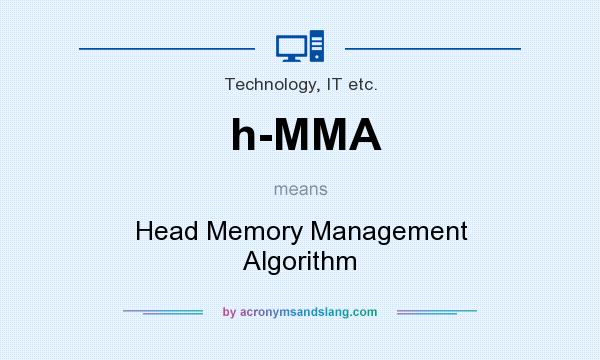 What does h-MMA mean? It stands for Head Memory Management Algorithm