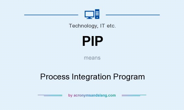 What does PIP mean? It stands for Process Integration Program