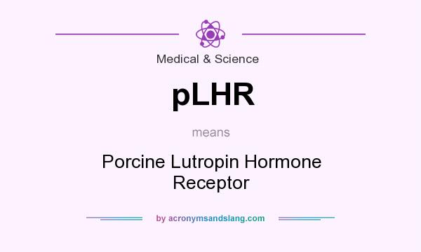 What does pLHR mean? It stands for Porcine Lutropin Hormone Receptor