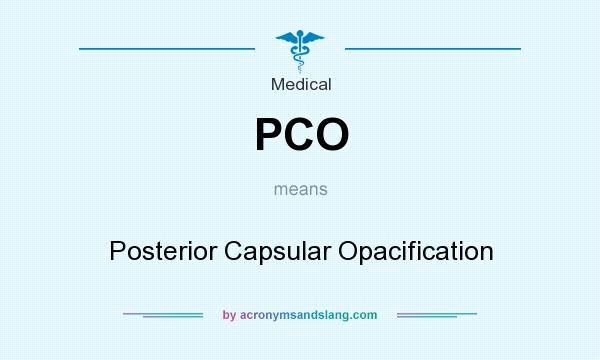 What does PCO mean? It stands for Posterior Capsular Opacification