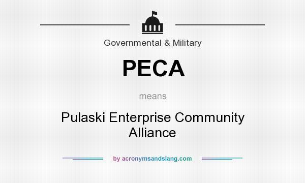 What does PECA mean? It stands for Pulaski Enterprise Community Alliance