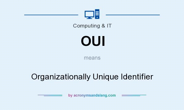 What does OUI mean? It stands for Organizationally Unique Identifier