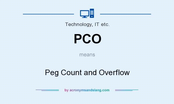 What does PCO mean? It stands for Peg Count and Overflow