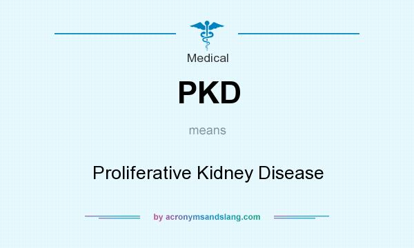 What does PKD mean? It stands for Proliferative Kidney Disease