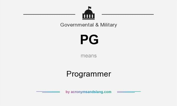What does PG mean? It stands for Programmer