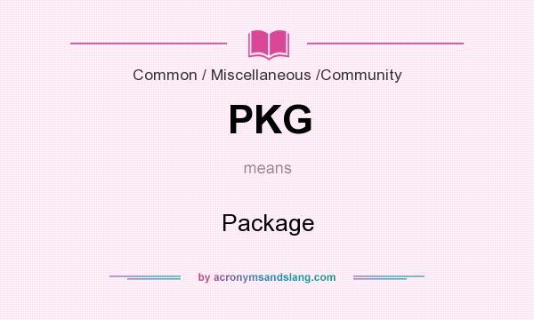 What does PKG mean? It stands for Package