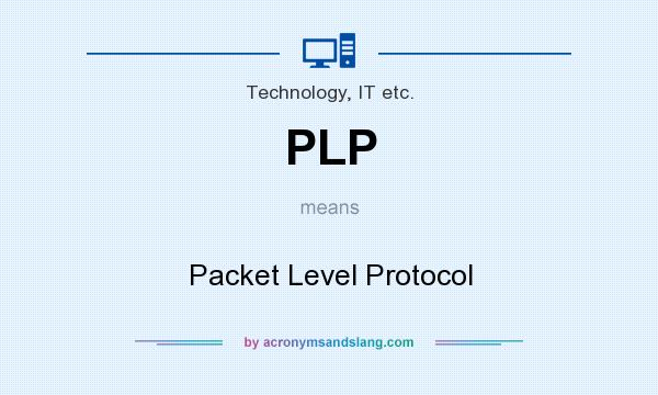 What does PLP mean? It stands for Packet Level Protocol