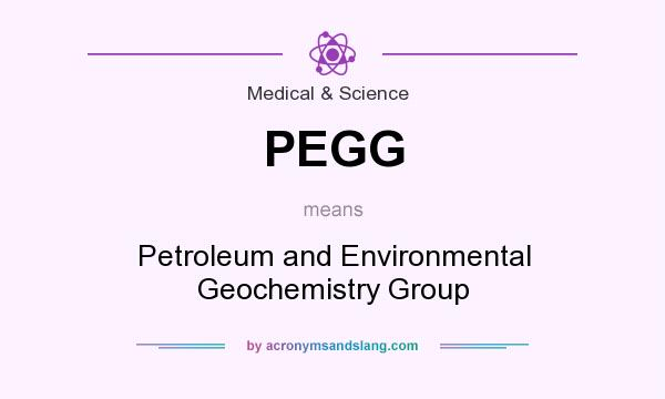 What does PEGG mean? It stands for Petroleum and Environmental Geochemistry Group