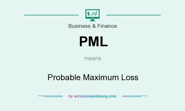 What does PML mean? It stands for Probable Maximum Loss