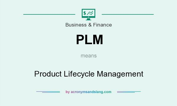 What does PLM mean? It stands for Product Lifecycle Management