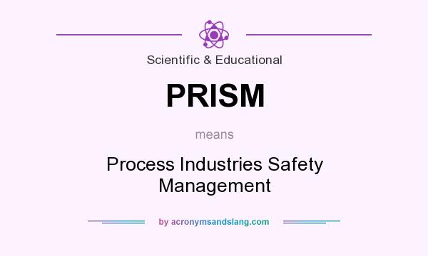 What does PRISM mean? It stands for Process Industries Safety Management