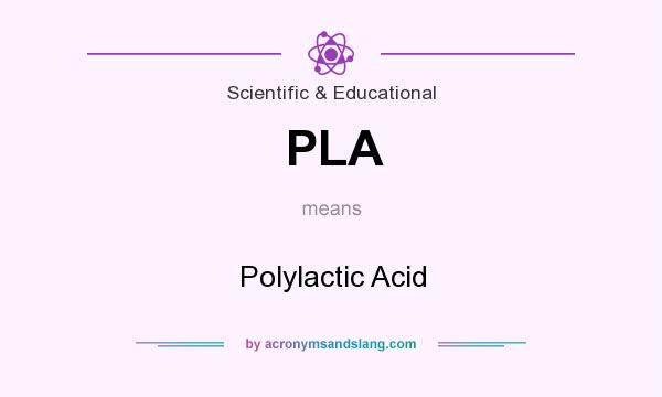 What does PLA mean? It stands for Polylactic Acid