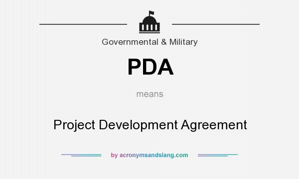 PDA Project Development Agreement in Government Military by – Project Development Agreement