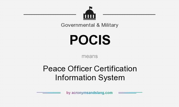 POCIS - Peace Officer Certification Information System in Government ...