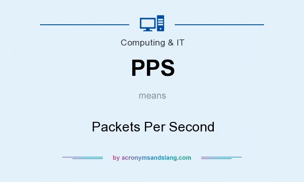 What does PPS mean? It stands for Packets Per Second