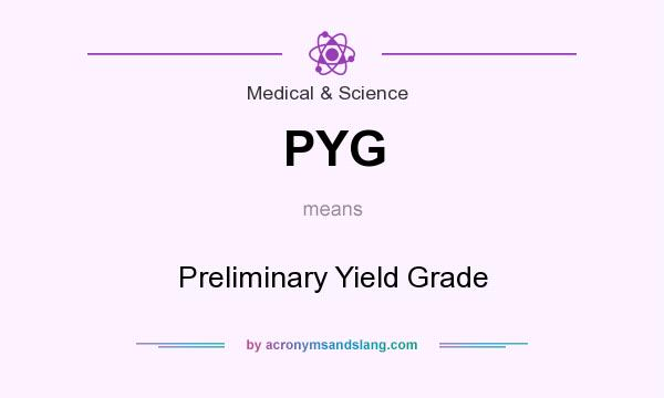 What does PYG mean? It stands for Preliminary Yield Grade