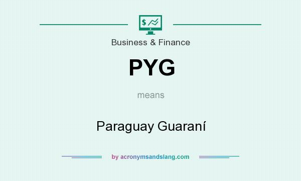 What does PYG mean? It stands for Paraguay Guaraní
