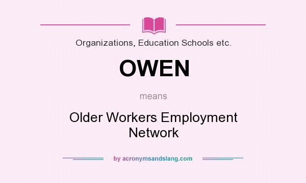 Older workers employment network