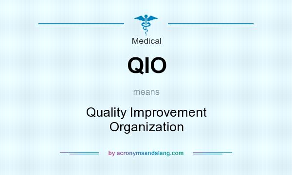 What does QIO mean? It stands for Quality Improvement Organization