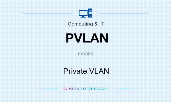 What does PVLAN mean? It stands for Private VLAN