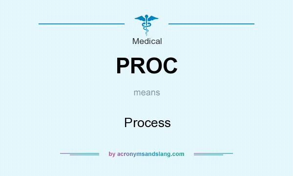 What does PROC mean? It stands for Process