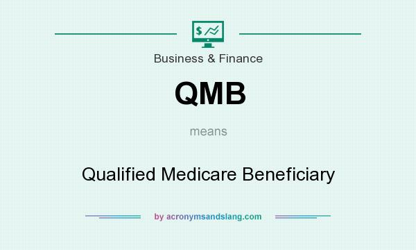 What does QMB mean? It stands for Qualified Medicare Beneficiary