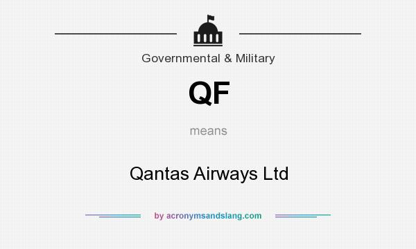 What does QF mean? It stands for Qantas Airways Ltd