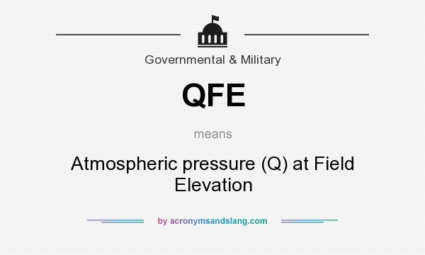What does QFE mean? It stands for Atmospheric pressure (Q) at Field Elevation
