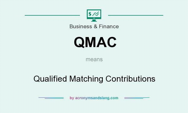 What does QMAC mean? It stands for Qualified Matching Contributions