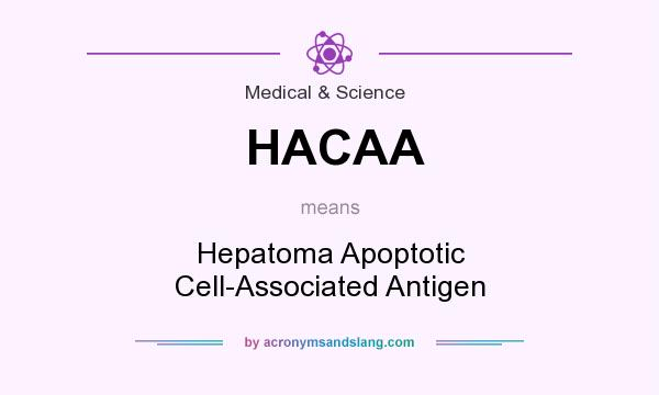 What does HACAA mean? It stands for Hepatoma Apoptotic Cell-Associated Antigen