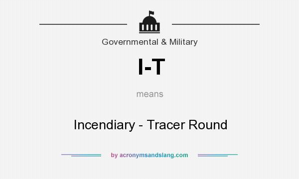 What does I-T mean? It stands for Incendiary - Tracer Round