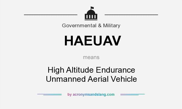 What does HAEUAV mean? It stands for High Altitude Endurance Unmanned Aerial Vehicle