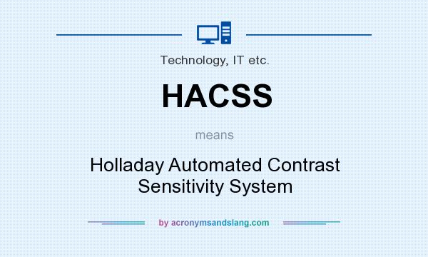 What does HACSS mean? It stands for Holladay Automated Contrast Sensitivity System