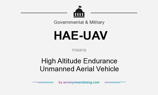 What does HAE-UAV mean? It stands for High Altitude Endurance Unmanned Aerial Vehicle