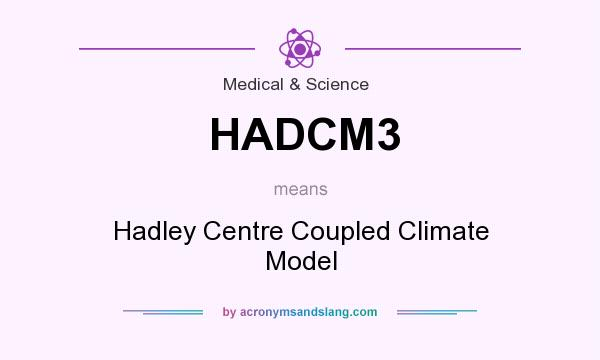What does HADCM3 mean? It stands for Hadley Centre Coupled Climate Model