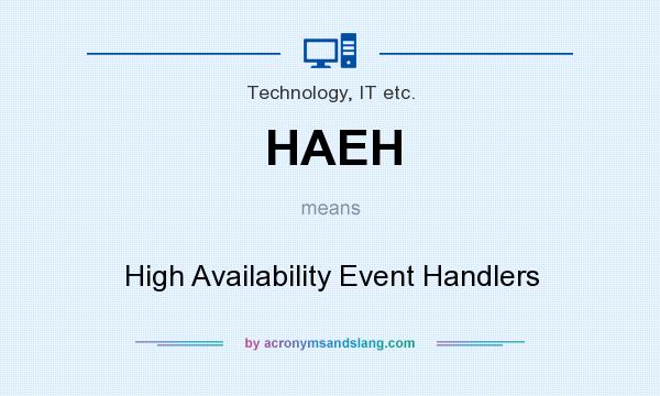 What does HAEH mean? It stands for High Availability Event Handlers
