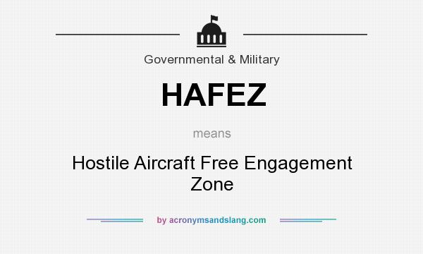 What does HAFEZ mean? It stands for Hostile Aircraft Free Engagement Zone