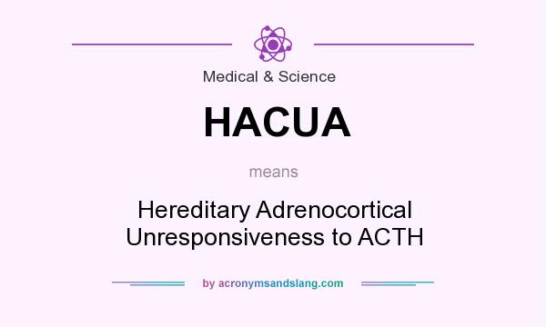 What does HACUA mean? It stands for Hereditary Adrenocortical Unresponsiveness to ACTH