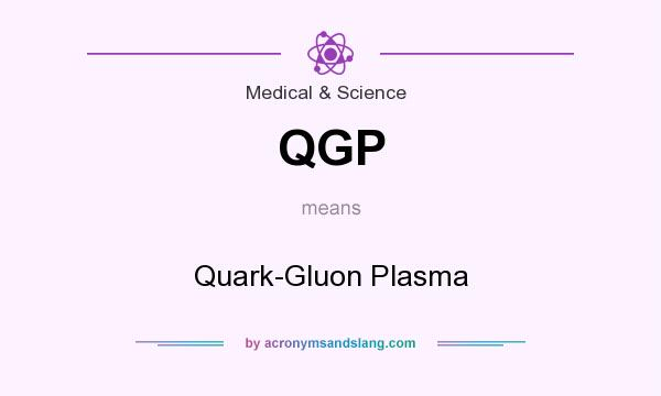 What does QGP mean? It stands for Quark-Gluon Plasma