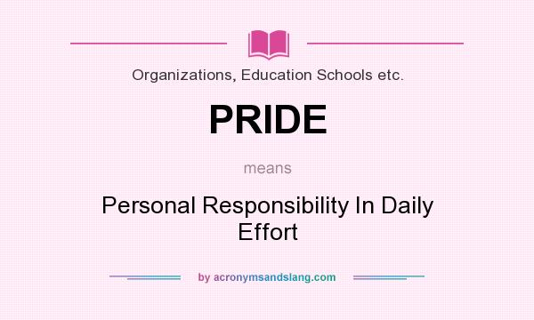 what does personal responsibility mean